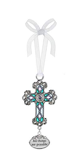 Ganz Cross Ornament All Things are Possible