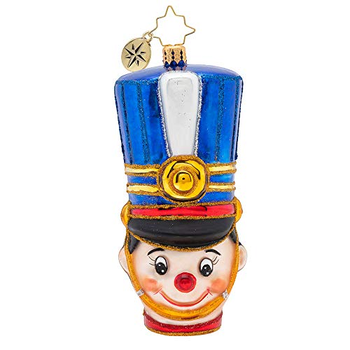 Christopher Radko Attention, Toy Soldier Christmas Ornament, Blue