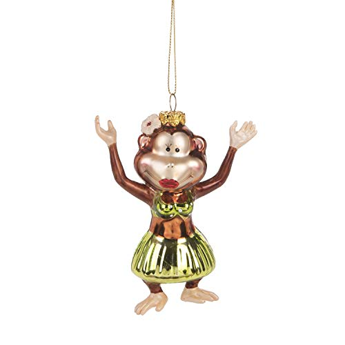 Beachcombers Coastal Life Decorative Beach Ornament with S-Hook (Hula Monkey, B21729)