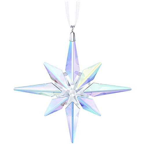 Swarovski Crystal AB Clear Crystal Clip on Star Ornament, 10.6 x 10 x 1.8 cm