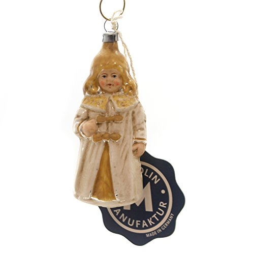 Marolin Nuremberg Christ Child Glass Ornament Feather Tree Germany 2011095