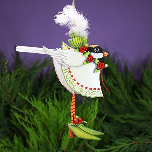 Patience Brewster Mini Tin Chickadee Figural Ornament 08-30424CH