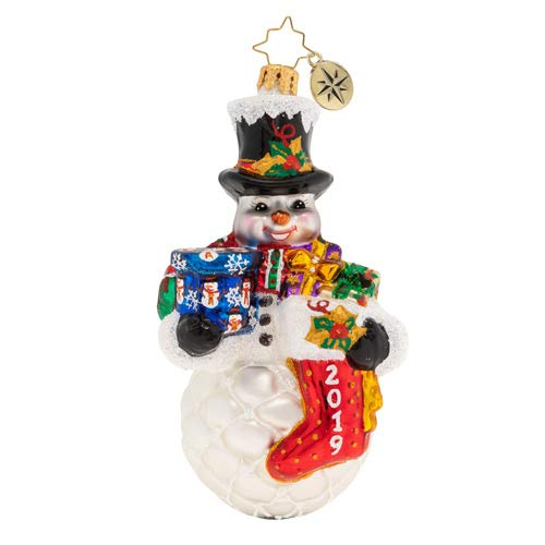 Christopher Radko A Frosty 2019 Armful Christmas Ornament, Multicolor