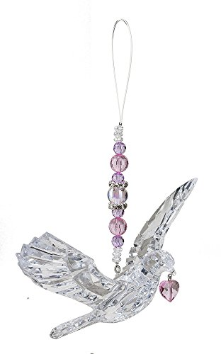 Crystal Expressions Hanging Dove with Heart by Ganz