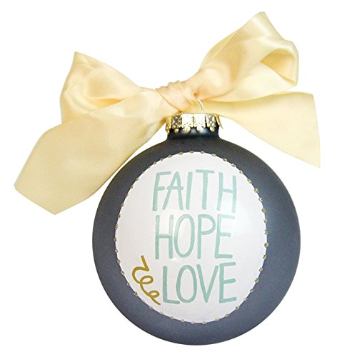 Coton Colors Faith, Hope & Love Glass Ornament
