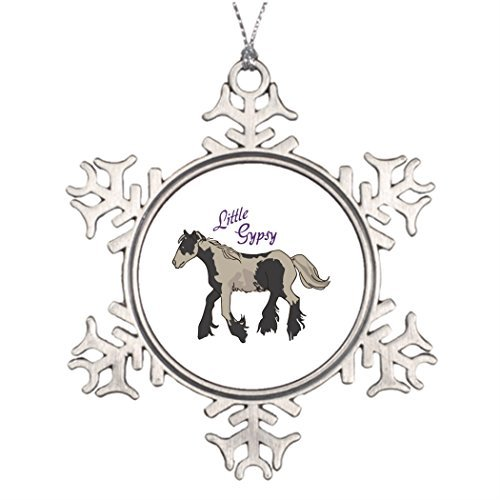 Metal Ornaments Equine Filly Xmas Trees Decorated Photo Snowflake Ornaments