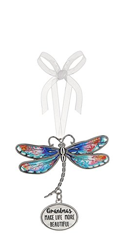 Grandmas Make Life More Beautiful Dragonfly Ornament – By Ganz