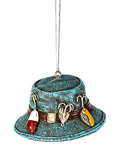 Midwest-CBK Blue Fisherman's Hat Ornament Resin 3″