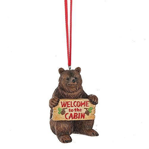 Welcome to the Cabin Brown Bear Ornament by Midwest-CBK 133649