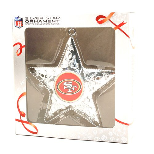 Topperscot San Francisco 49ers Silver Star Ornament
