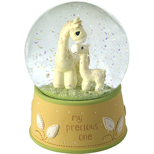 Precious Moments My Resin/Glass My My Precious One Giraffe Musical Snow Globe, Yellow