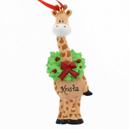 Rudolph and Me Christmas Giraffe Ornament