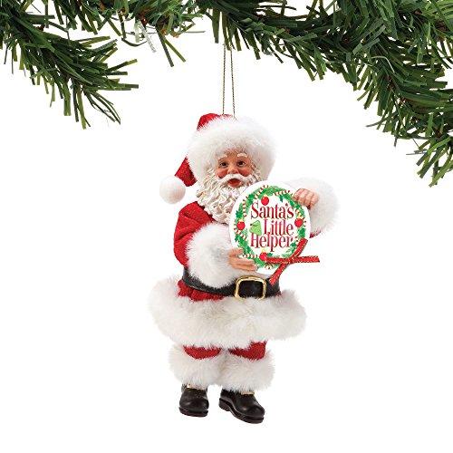 Department 56 Possible Dreams Santa's Little Helper, 6″ Hanging Ornament, Multicolor