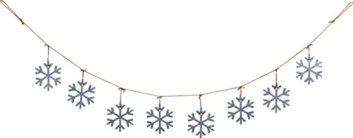 70 Inch Galvanized Metal Snowflake Garland Holiday Decoration