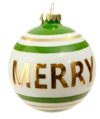 RAZ Imports – 4″ Message Ball Christmas Ornaments (Merry)
