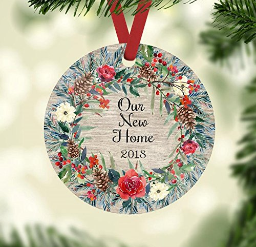 Christmas Ornament – Our New Home 2018 – Farmhouse Style Ornament