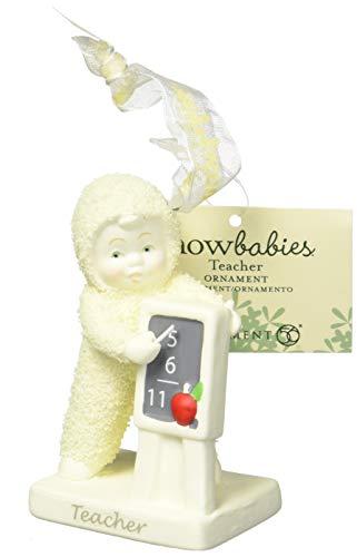 """Department 56 Snowbabies """"Teacher"""" Porcelain Hanging Ornament, 3.25″"""