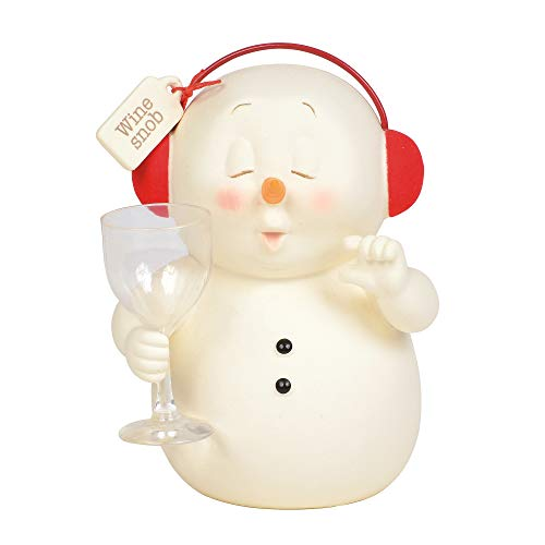 Department 56 Snowpinions Wine Snob Figurine, 5.25″, Multicolor