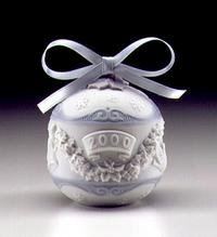 Lladro Christmas Ball Ornament Dated 2000 by Lladr
