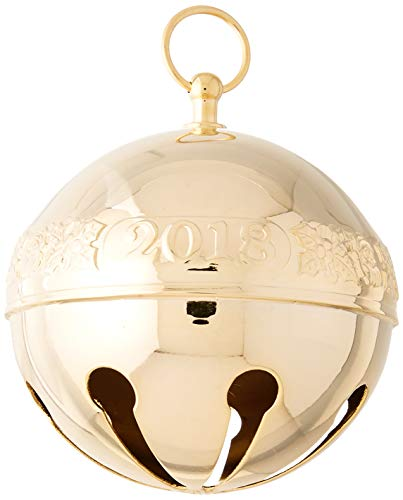 Wallace 2018 Sleigh Bell Gold-Plated Christmas Holiday Ornament, 29th Edition,