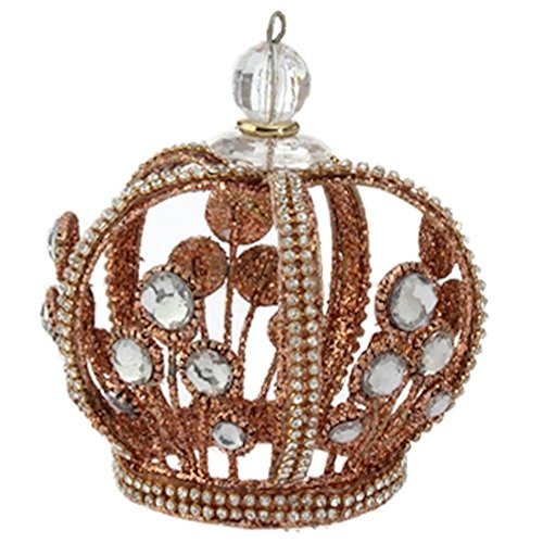 Royal Crown Jeweled Crown Ornament 3616269 RAZ Imports (Bronze)