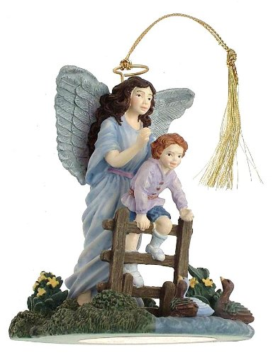 c1998 Bradford Editions Heavenly Protector Someone to Watch Over Me guardian angel ornament – F447