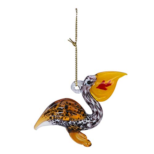 Beachcombers Coastal Life Decorative Beach Ornament with S-Hook (Pelican w Fish, 04003)