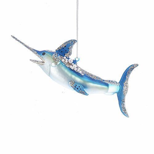 Kurt Adler Kurt S. Adler 6.3-Inch Glass Shark Ornament