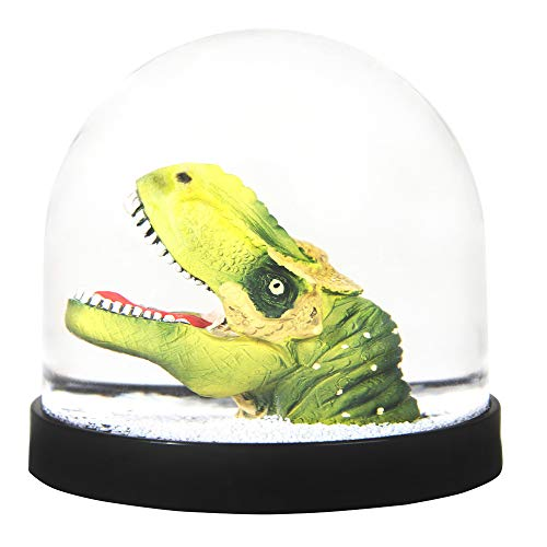KLEVERING Funny Snow Globe Snow Ball with Dinosaur in Green. 3.14 in. x Ø 3,34 in.