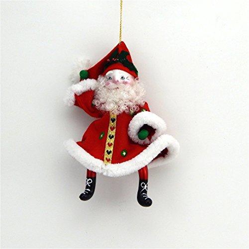 De Carlini Glass Ornament – Dancing Santa – Italian Ornament