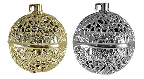 Gerson Chirping Bird Gold & Silver Hanging Christmas Ornaments – Set of 2