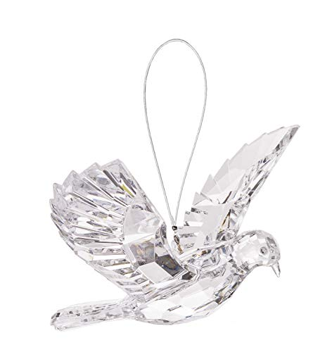 Ganz 7 inches Hanging Clear Dove Acrylic Ornament