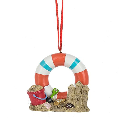 Midwest-CBK Beach Scene with Sand Castle Ornament