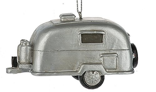 Midwest-CBK Silver Retro Camping Trailer RV Ornament
