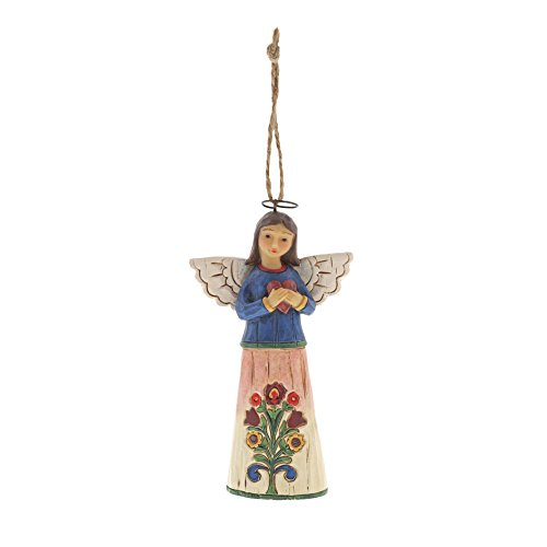 Enesco 6001455 Jim Shore Folklore Angel With Heart. Hanging Ornament, 4.5″, Multicolor