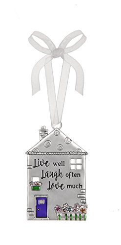 Live Well Laugh Often Love Much House Shaped Ornament – By Ganz