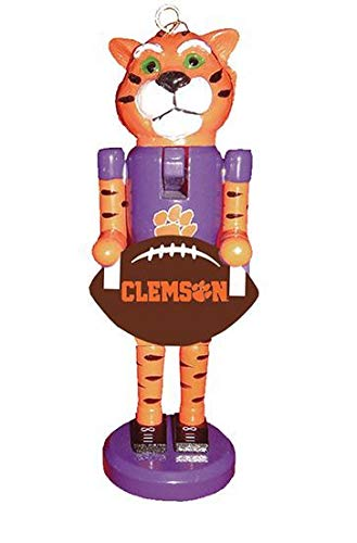 Santa's Workshop Clemson Football Nutcracker Ornament