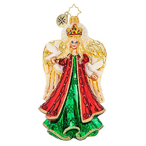 Christopher Radko Gallant Guardian Christmas Ornament, red, Gold, Green