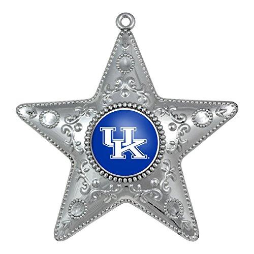Kentucky Wildcats Silver Star Ornament