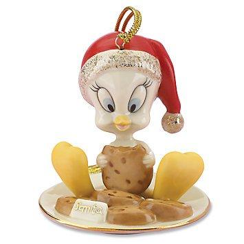 Lenox Tweety Eating Cookies Ornament