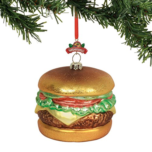Department 56 Margaritaville Cheeseburger in Paradise, 4″ Hanging Ornament, Multicolor