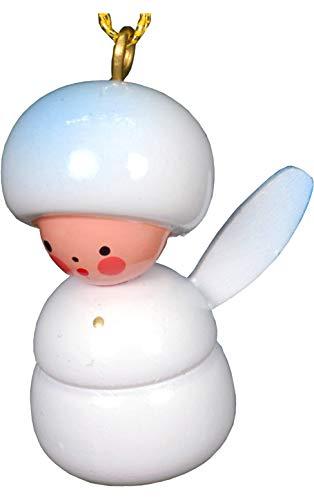 Alexander Taron Importer 10-0376 Christian Ulbricht Ornament – Mini-Angel – 1.25″ H x .75″ W x .675″ D White