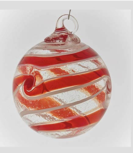 Glass Eye Studio Red Spin Artisan Ornament