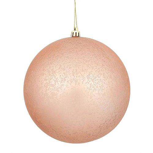Vickerman 478820 – 4″ Rose Gold Matte Mercury Ball Christmas Tree Ornament (6 pack) (N176158)