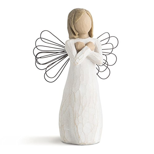Willow Tree hand-painted sculpted angel, Sign for Love