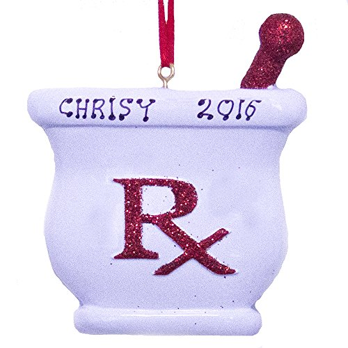 Rudolph and Me Personalized Pharmacist Christmas Ornament Free Personalization