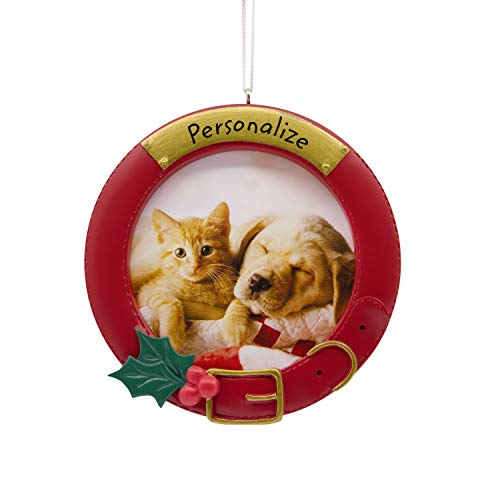 Hallmark Christmas Ornaments, Pet Collar Personalized Picture Frame Ornament