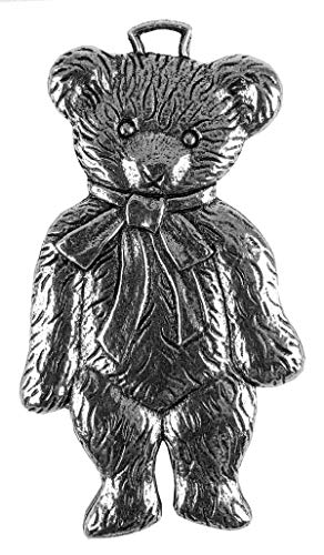 Oberon Design Teddy Bear Metal Collectable Christmas Tree Ornament – Hand Made in The USA