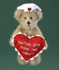 Eneco Boyds Bear Collection **5″ Nurse Bear Ornament** 4019162