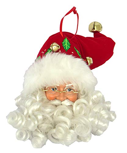 Santa's Workshop Merry Christmas Claus ORN Ornament, 7.50″ Tall, Red/White
